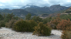 Gorge de Verdon Scrub in Foreground Stock Footage