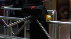 Electronic turnstile Stock Footage