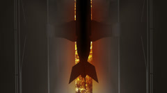 Megapolis Bomb Hit 3 inferno - stock footage