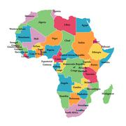 Editable map of Africa - stock illustration