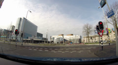 THE HAGUE green light in front of the World Forum international congress centre, Stock Footage