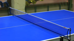 Playing table tennis - ping-pong Stock Footage