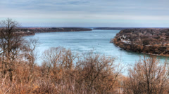 A timelapse view of the Niagara River gorge, Ontario, Canada Stock Footage