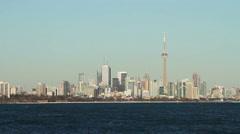 Toronto Skyline, CN Tower Stock Footage