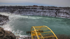 A timelapse view of the whirlpool rapids, Niagara Falls, Ontario, Canada - stock footage