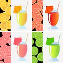Stock Illustration of fruit juices