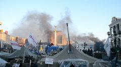 Euro maidan meeting in Kiev, Ukraine. Stock Footage