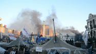 Stock Video Footage of Euro maidan meeting in Kiev, Ukraine.
