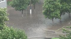 Flood after a rain - stock footage