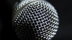 Microphone Close Up Macro Stock Footage