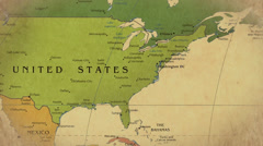 Old Map Of The World Stock Footage