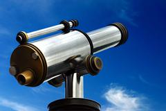 Spyglass in the sky - stock photo
