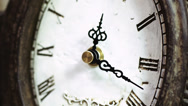 Time-lapse of beautiful, antique clock with decorations. Stock Footage