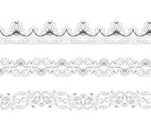 Ornamental recurring borders in classic style Stock Illustration