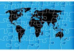 World map puzzle Stock Illustration