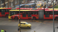 Afternoon  Rush hour downtown Bogota Colombia Stock Footage