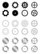 Stock Illustration of Gears collection