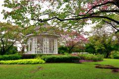 Botanic gardens Bandstand Stock Photos