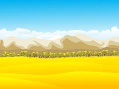 Peaceful autumn background - stock illustration