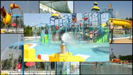 Stock Video Footage of water can aqua  park  multi screen lot of a fun and summer happines