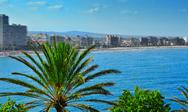 Stock Photo of north beach in peniscola, spain