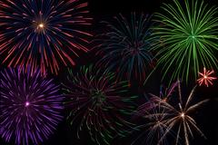 independence day fireworks - stock photo