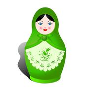 Russian nesting doll Stock Illustration