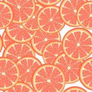 Stock Illustration of seamless grapefruit
