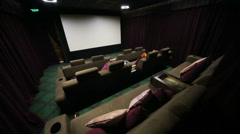 Special hall with soft sofas in cinema at GUM Stock Footage