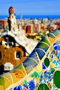 Stock Photo of park guell in barcelona, spain