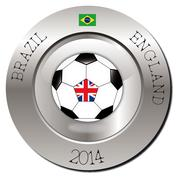 Brazil-England - stock illustration