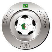 Brazil-Algeria - stock illustration