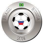 Brazil-Russia - stock illustration