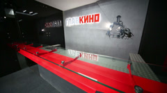Stylish reception in movie concern Glavkino - stock footage