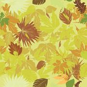 Stock Illustration of green leaves pattern
