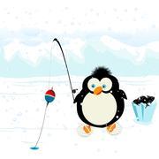 Funny penguin Stock Illustration