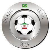 Brazil-Iran - stock illustration
