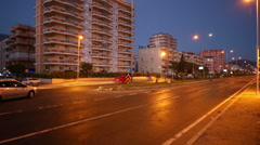 The streets of European city at night, quiet and peaceful Stock Footage