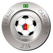 Brazil-Cameroon - stock illustration