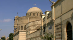 Coptic district cairo Stock Footage