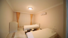 Cleaned prepared to receive guests in a hotel room Stock Footage