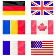 Stylized flags collection Stock Illustration