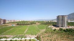 Huge area nestled in the vast gardens of Mahmutlar Stock Footage