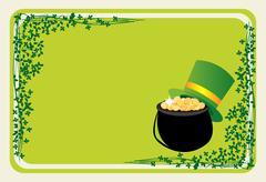 St Patrick's banner - stock illustration