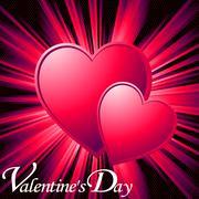 Valentine card - stock illustration