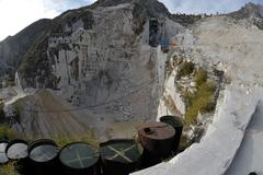 Stock Photo of the marble quarries - apuan alps , carrara