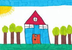 Child's Drawing - stock illustration