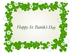 Stock Illustration of Happy St. Patrick card
