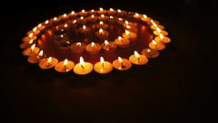 Candles in Concentric Circles Dolly Stock Footage