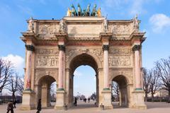 Arc de triomphe du carrousel in paris - france Stock Photos